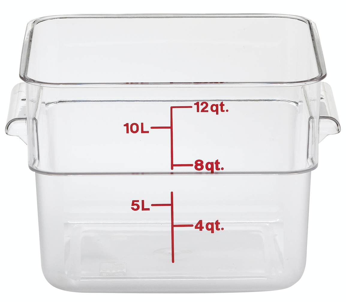 Square Clear Food Storage 12 qt