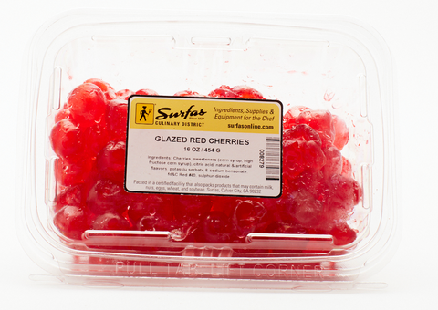Glazed Red Cherries 1lb