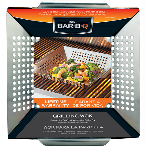 Grill Basket/Wok Sq. 12IN S/S