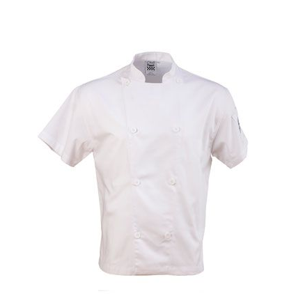 Chef Coat Mesh white short Slv, XS