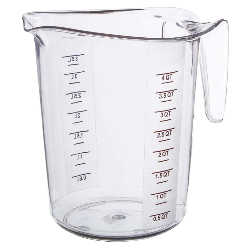 MEASURE CUP POLY 4 QT