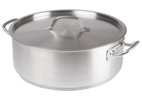 Brazier 20 qt w/Cover Stainless Steel