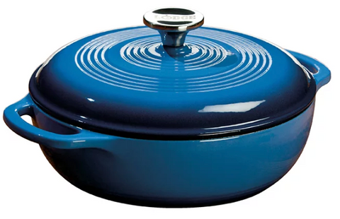 DUTCH OVEN ENAMEL 3QT BLUE
