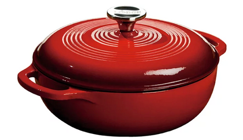 DUTCH OVEN ENAMEL 3QT RED