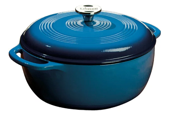 DUTCH OVEN ENAMEL 6QT BLUE