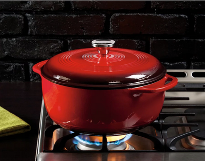 DUTCH OVEN ENAMEL 6QT RED