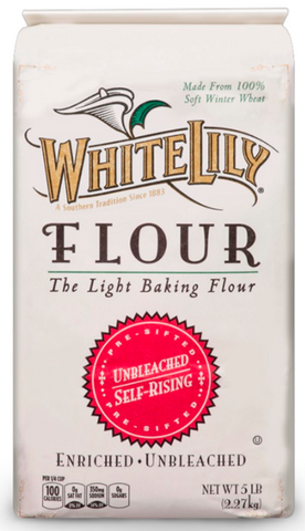 White Lily Unbleached, self-rising, 5lb