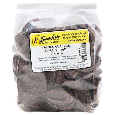 Valrhona Feves 66% Caribe 1lb