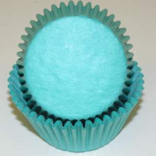 "BAKE CUP TEAL 1 1/4"" W X 2"" B"
