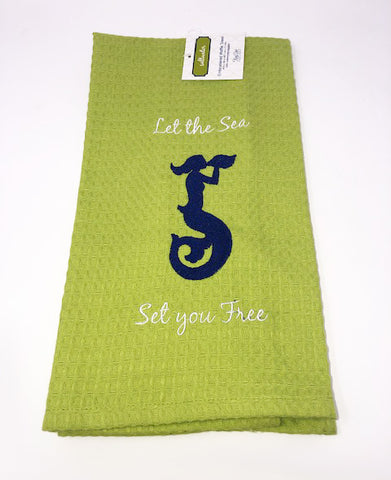 Kitchen Towel Mermaid Green