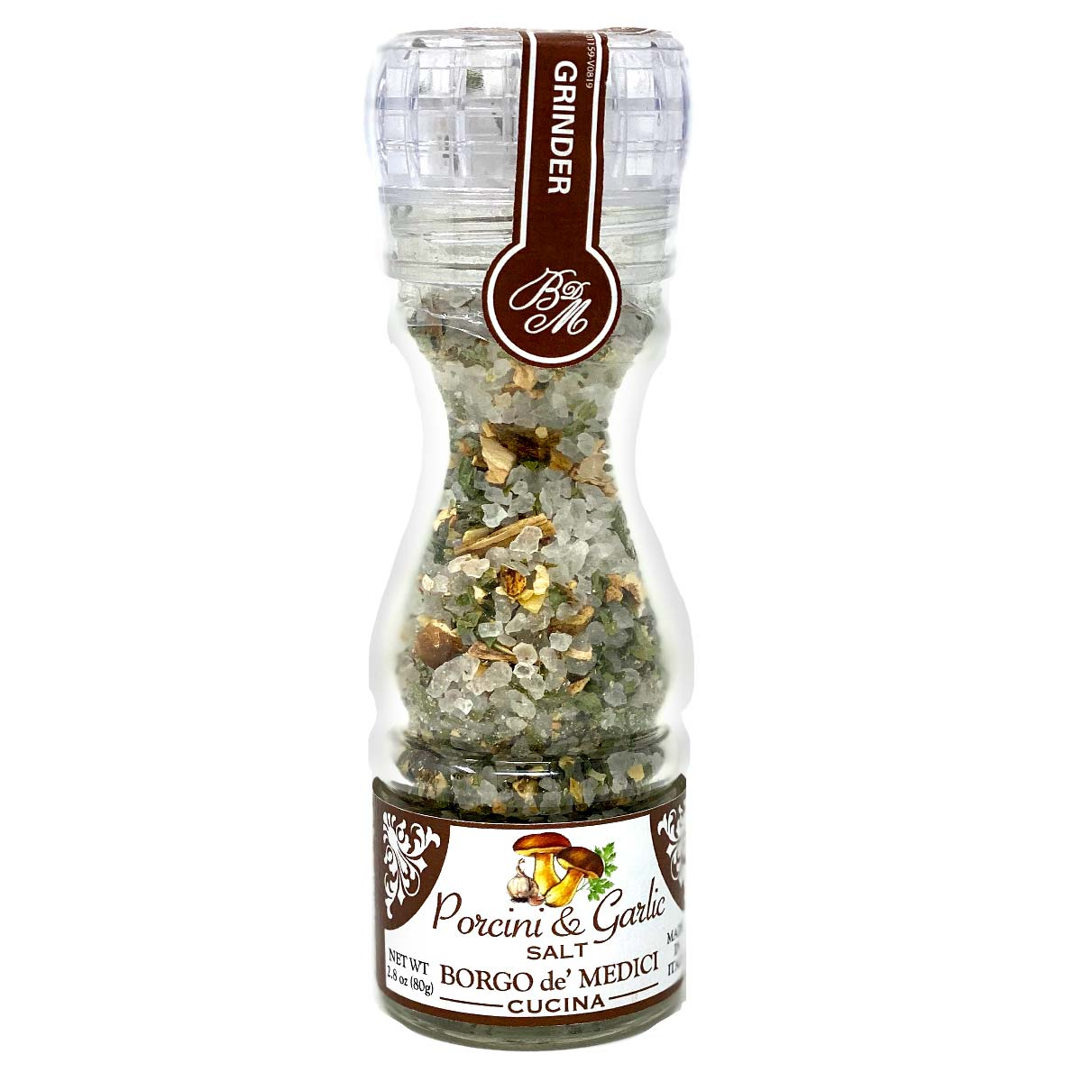 Porcini & Garlic Salt Grinder 2.8oz