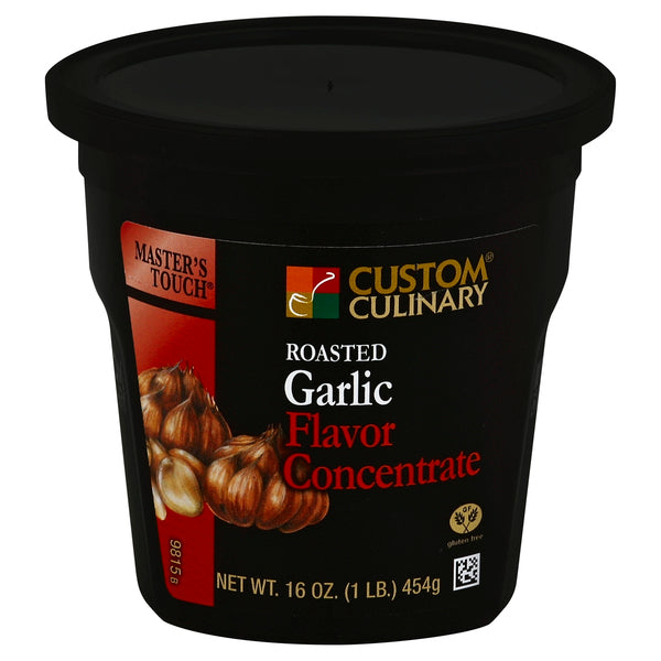 Base Custom Culinary Master's Touch Roasted Garlic Flavor Concentrate 1lbs