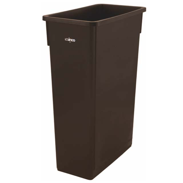 TRASH CAN WALL HGR 23GAL BROWN