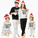 Family Matching King And Queen Christmas Pajamas