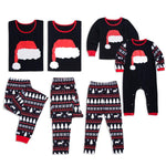 Cute Christmas Hat Print Family Matching Pajamas
