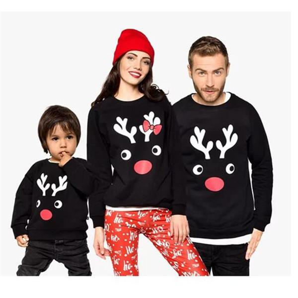 Christmas Family Matching Sweater With Black