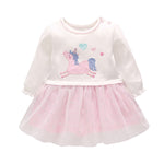Lovely Baby Girls Unicorn Pattern Tulle Dress