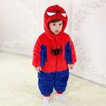 Spider Man Baby & Toddlers Warm Cute Thicken Winter Jumpsuits Unisex 0-3Y