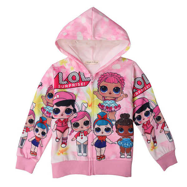 LOL Clashing Colours Hooded Zipper Jacket