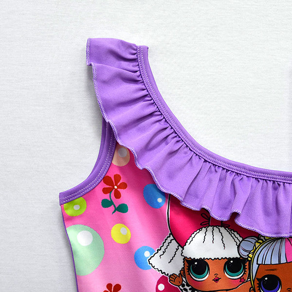 65a2db6ddc LOL Surprise! Girls Cartoon Print One-Piece Swimwear – Binfrey