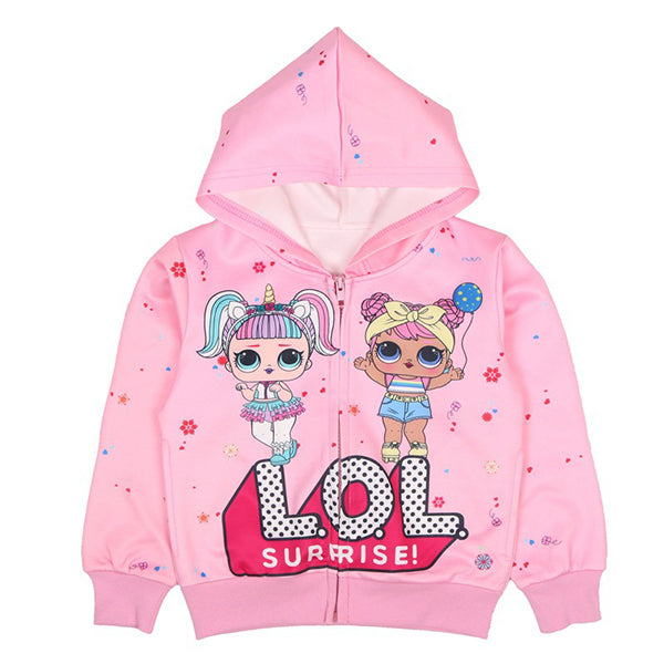 10ddde25f Girls L.O.L Surprise Hooded Zipper Jacket