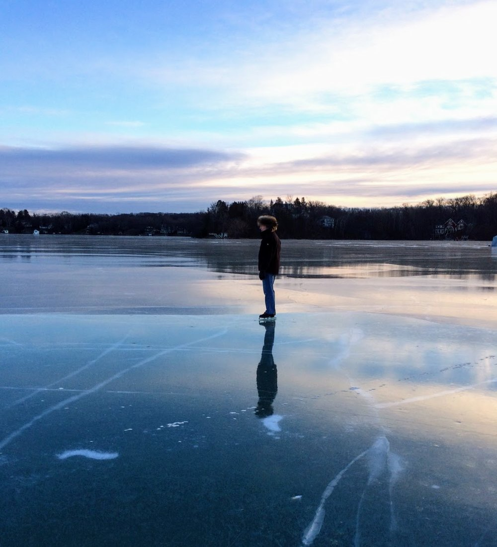 ice skating on beaver lake wisconsin