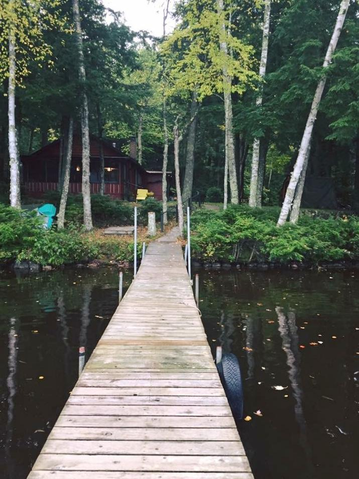 cabin view from the dock of sqauw lake minocqua
