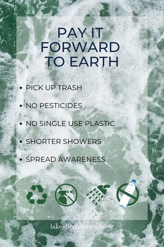 how to pay it forward to earth infographic