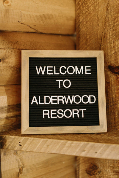 welcome to alderwood resort