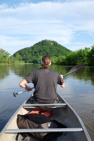 canoeing around trempealeau bay wisconsin mississippi river
