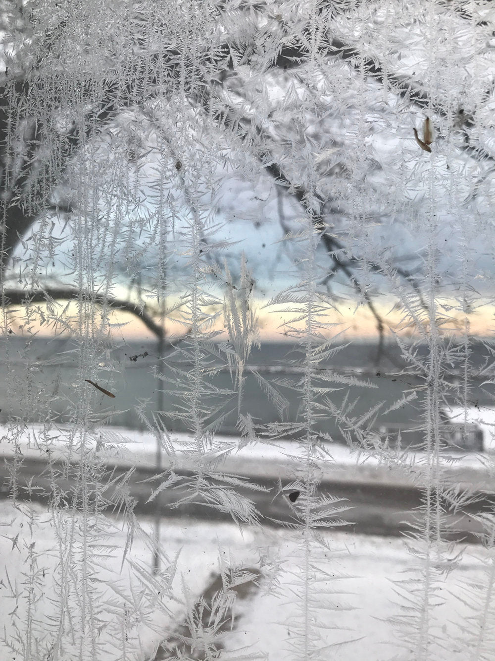 ice forming on the window texture