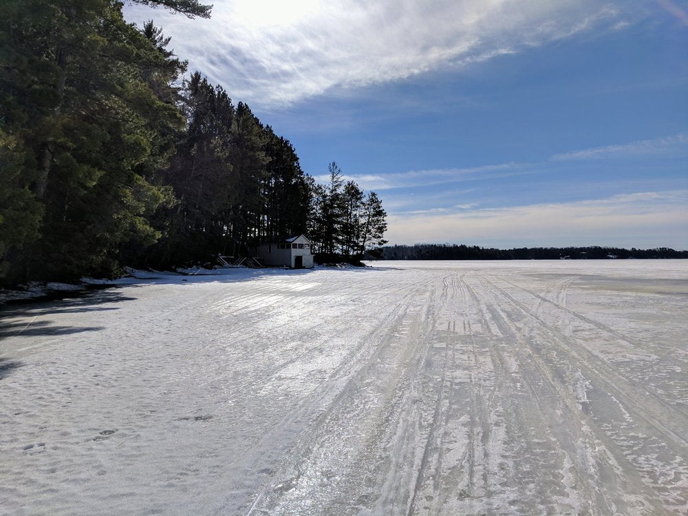 frozen three lakes, wisconsin