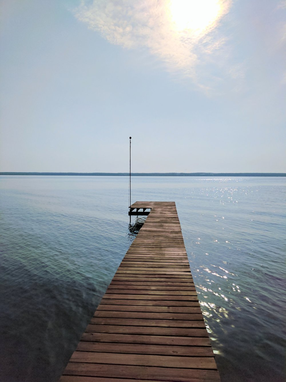 single pier in the finger lakes