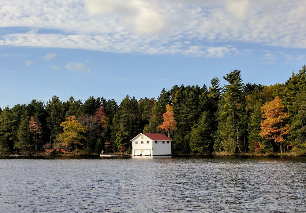 little boathouse on the lake