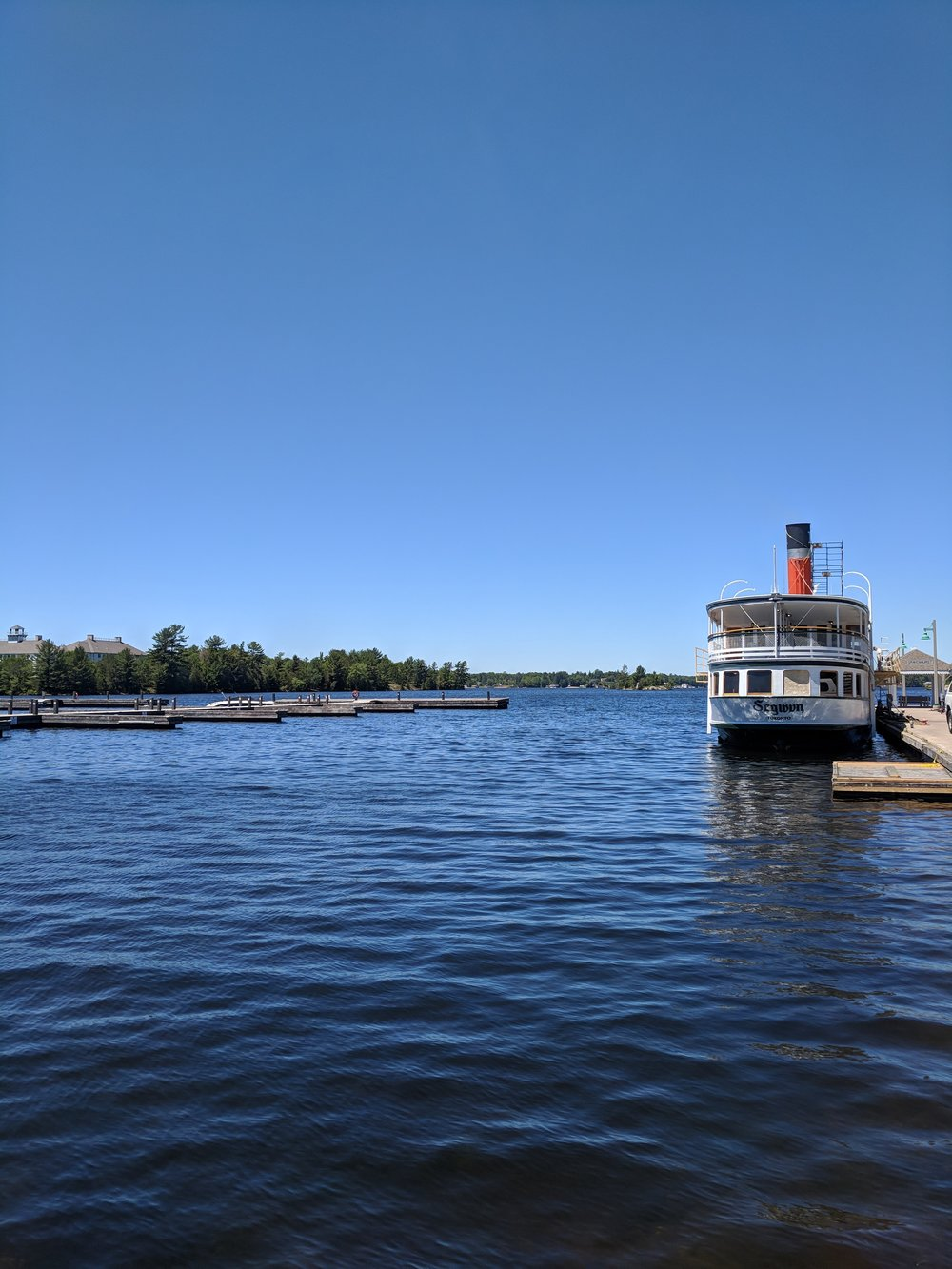 steamboat in the habour ontario muskoka lakes