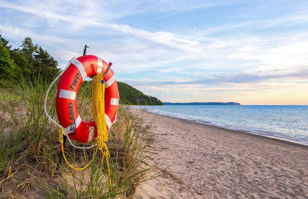 life preserver on the beach