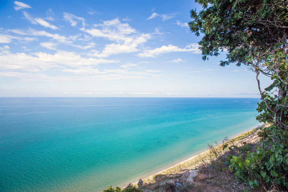 lake michigan from clay cliffs