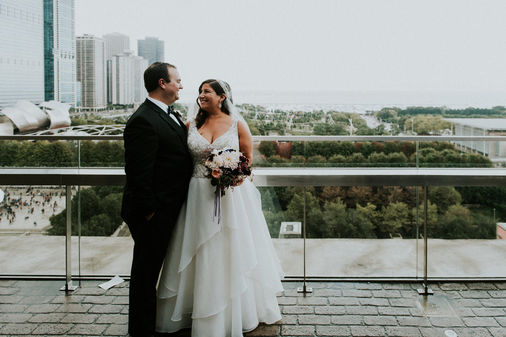 bridge and groom in chicago