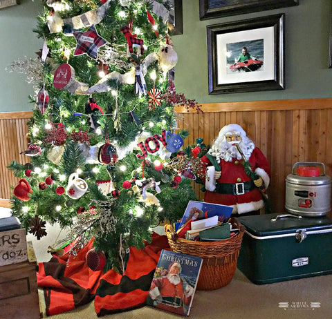 christmas tree at the cabin