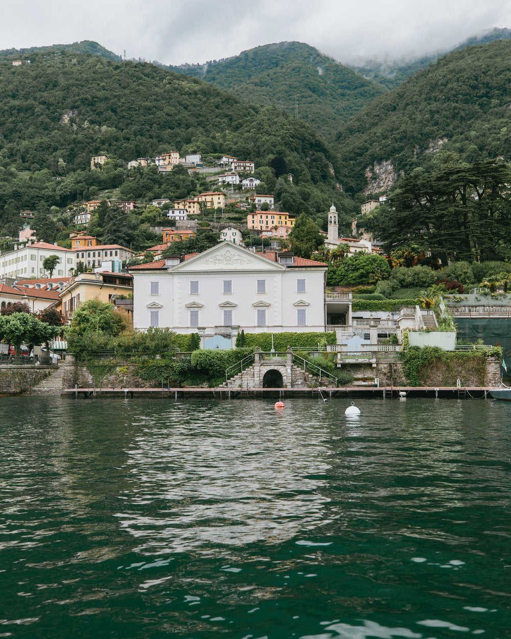 lake como village houses