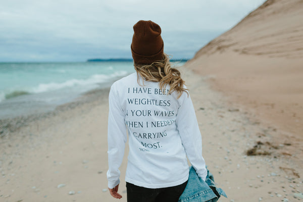 HOME Poem Tee by Mae Stier at Sleeping Bear Dunes.