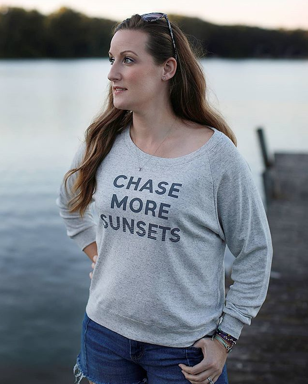 chase more sunsets reglan crewneck sweater