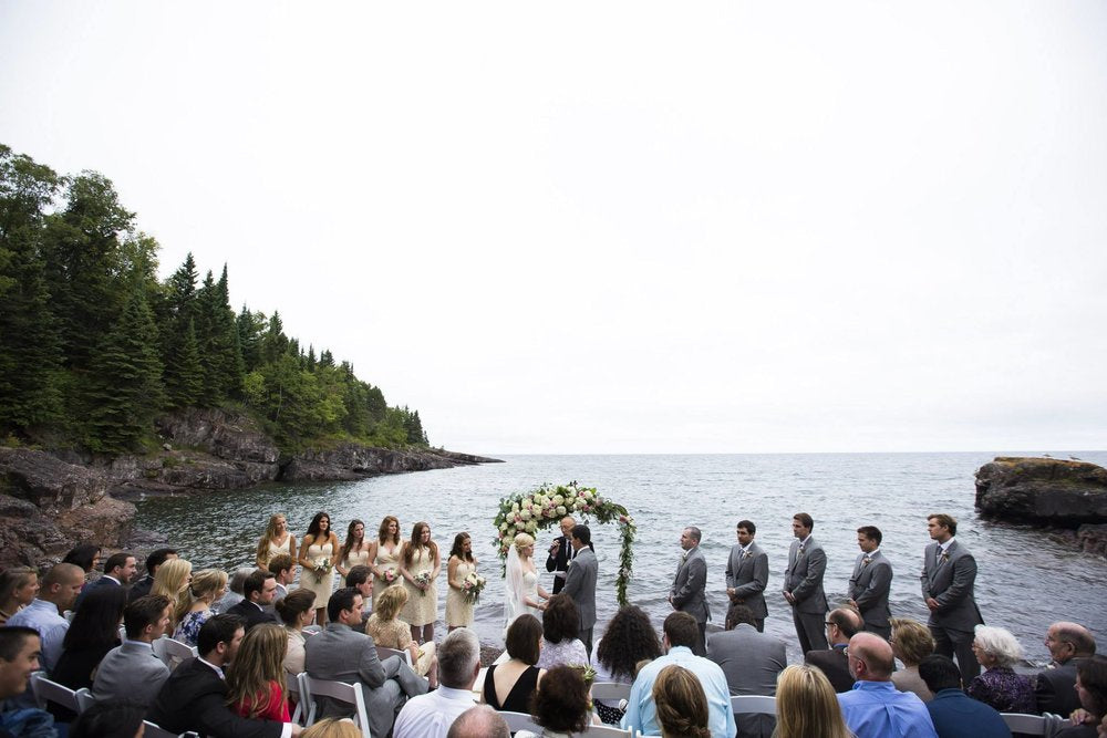 wedding on the north shore overlooking lake superior