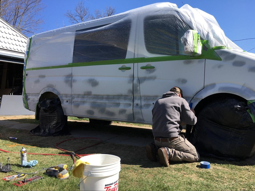 painting dodge sprinter van