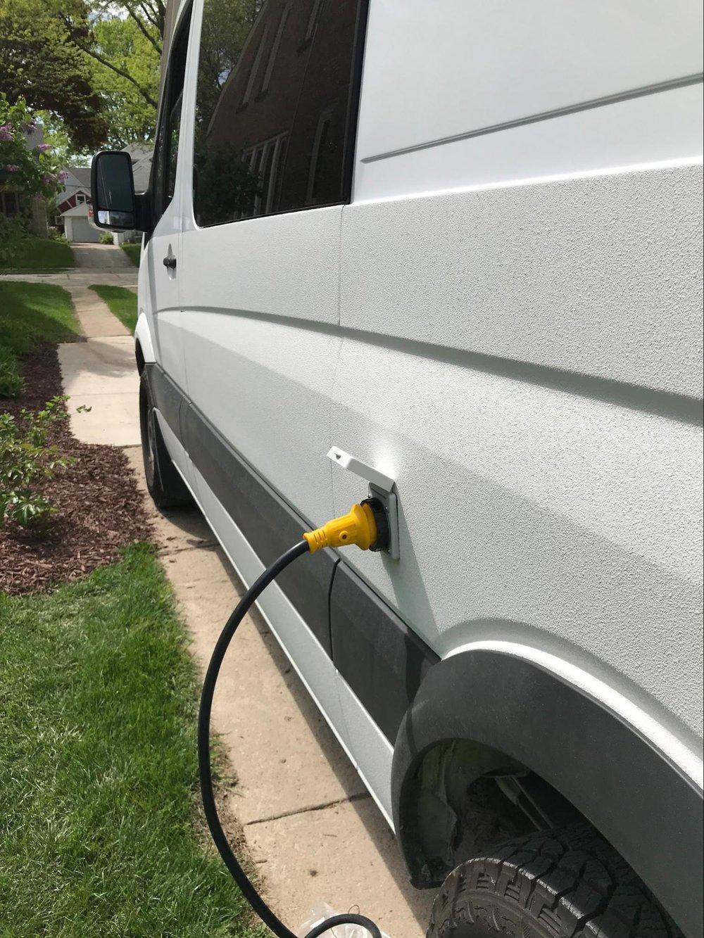 dodge sprinter van electrical hook up diy