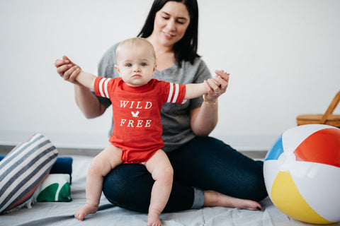 wild and free red onesie infant