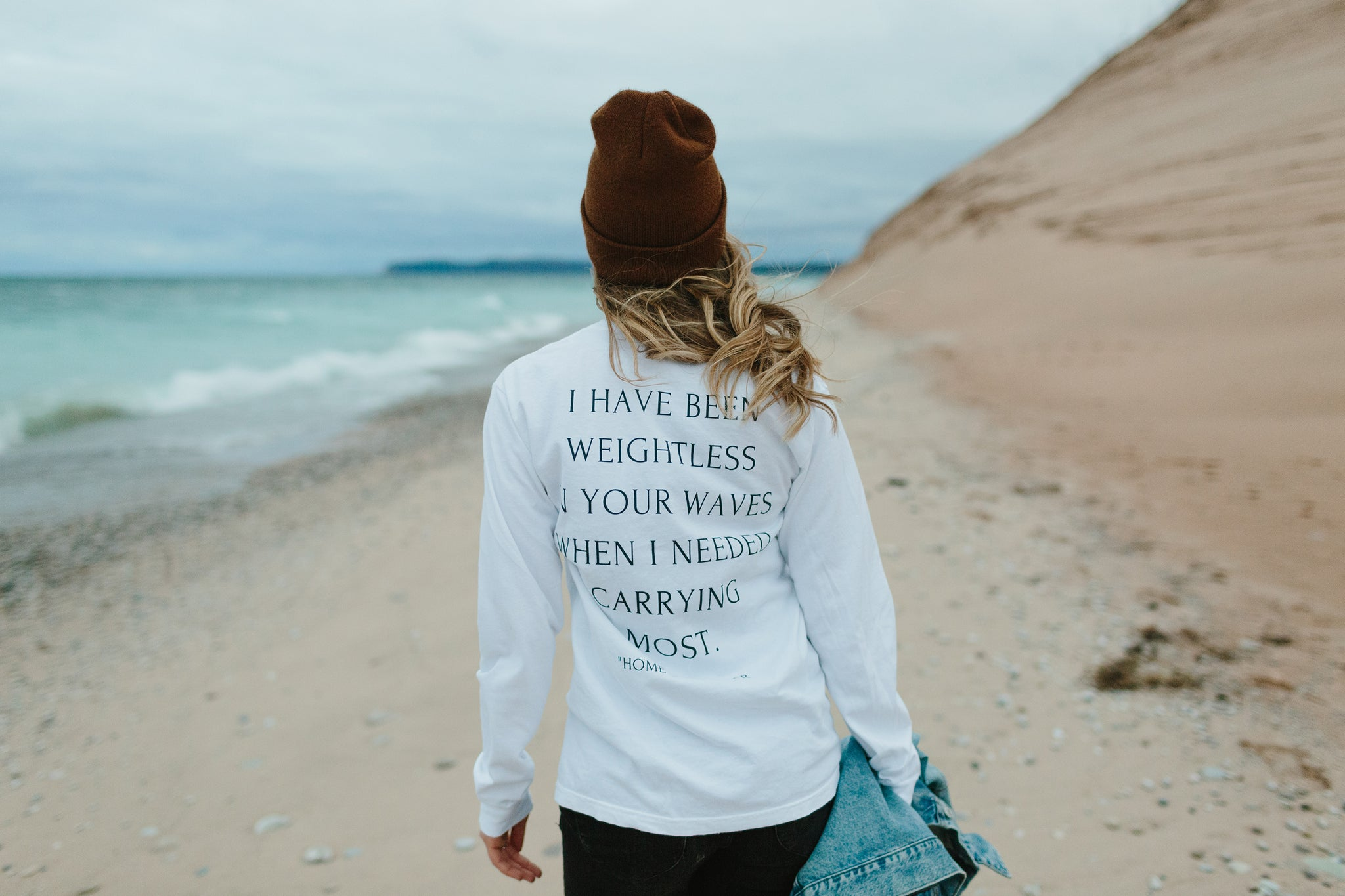 home long sleeve tee mae stier poem