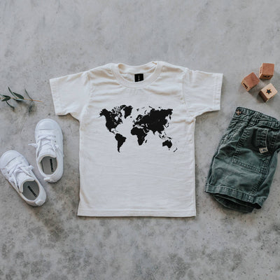 Gladfolk | World Map Toddler & Kids Organic Tee (PREORDER)