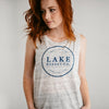 Ladies Marbled Gray Muscle Tank