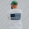 Lake Effect Flag White Long Sleeve Shirt